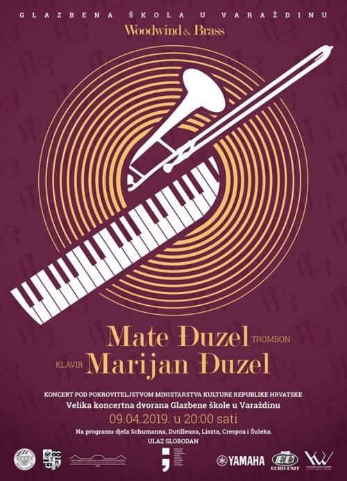 Plakat Mate i Marijan Đuzel